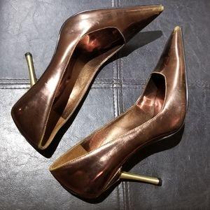 Copper GUESS Heels Size 7M Women's